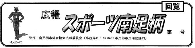 広報誌「スポーツ南足柄」43号 29年3月